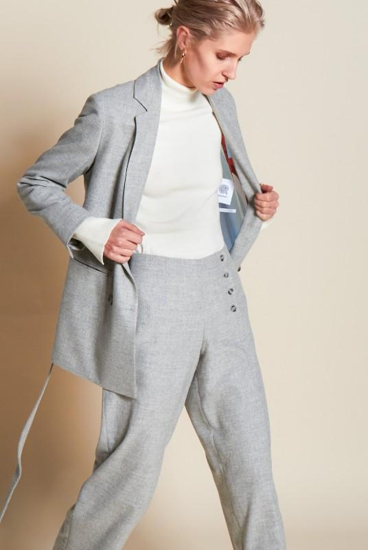 Still Grey Straight Leg Trouser-Rhumaa-MAMOQ