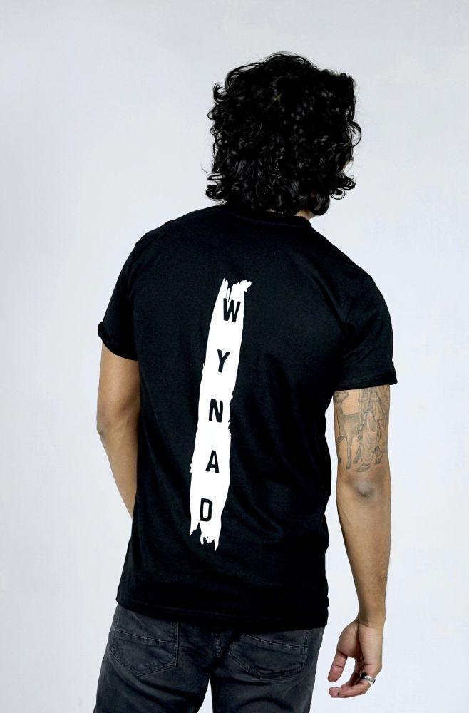 Stripe Black Organic Cotton Short Sleeve T-Shirt-Wynad-MAMOQ