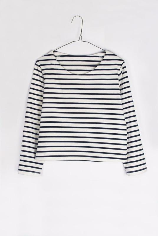 Striped Organic Cotton Long Sleeve Top-Veryan-MAMOQ