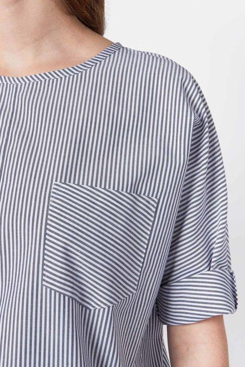 Striped Organic Cotton Top-Elsien Gringhuis-MAMOQ