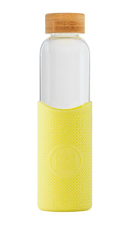 Summer Lovin Yellow Glass Water Bottle-Glass Water Bottles-Neon Kactus-MAMOQ