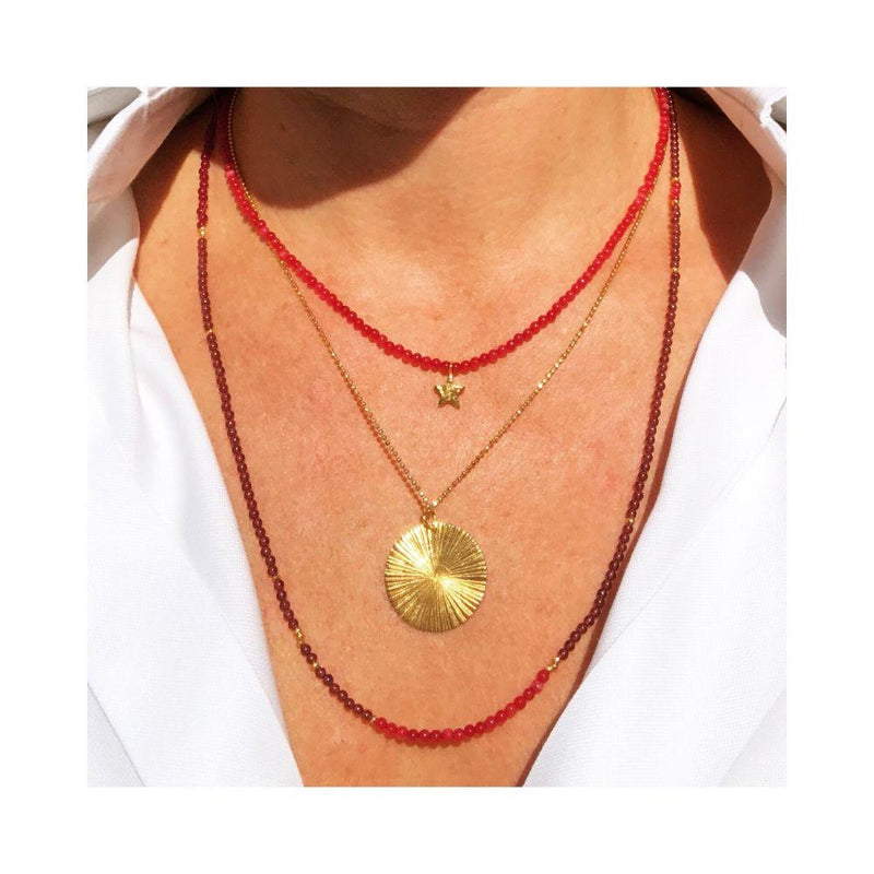 Sun Ray Gold Plated Necklace-RAW Copenhagen-MAMOQ