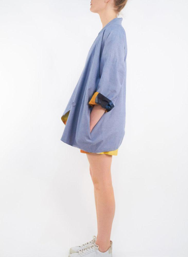 Sunset Chambray Baer Reversible Jacket-Cor-MAMOQ