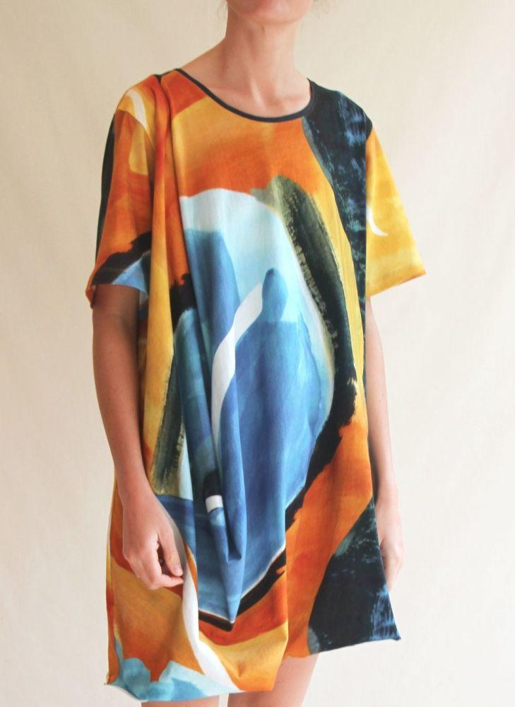 Sunset Matisse Drape Dress-Cor-MAMOQ