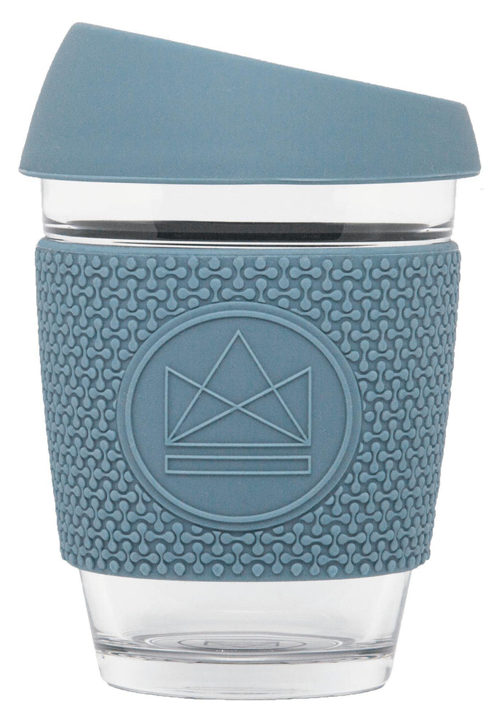 SUPER SONIC Blue Glass Reusable Coffee Cup-Glass Coffee Cups-Neon Kactus-MAMOQ