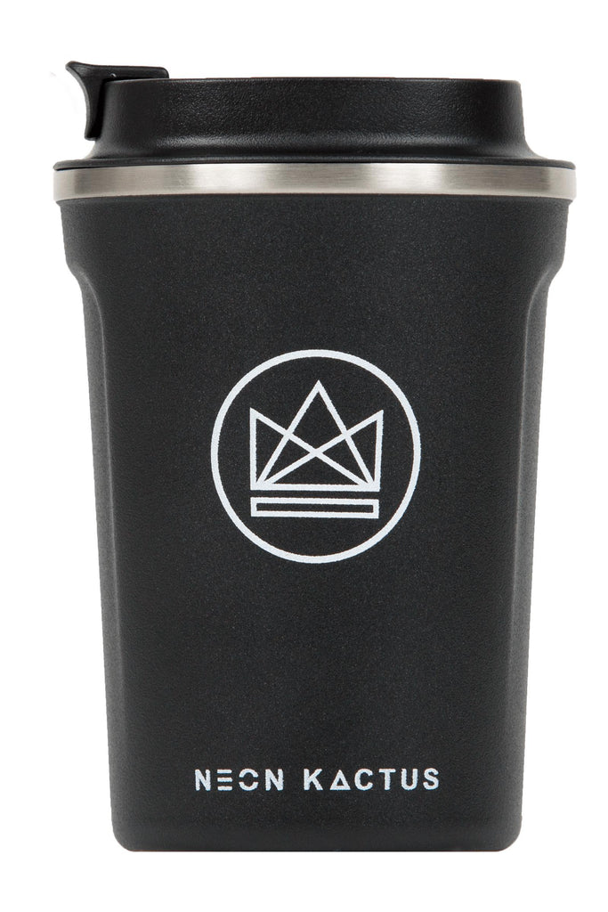 Surfer Dude Black Insulated Coffee Cups-Insulated Coffee Cups-Neon Kactus-MAMOQ