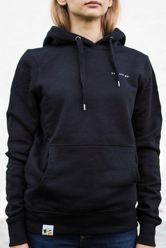 Sustain Me Black Organic Cotton Hoodie-blonde gone rogue-MAMOQ