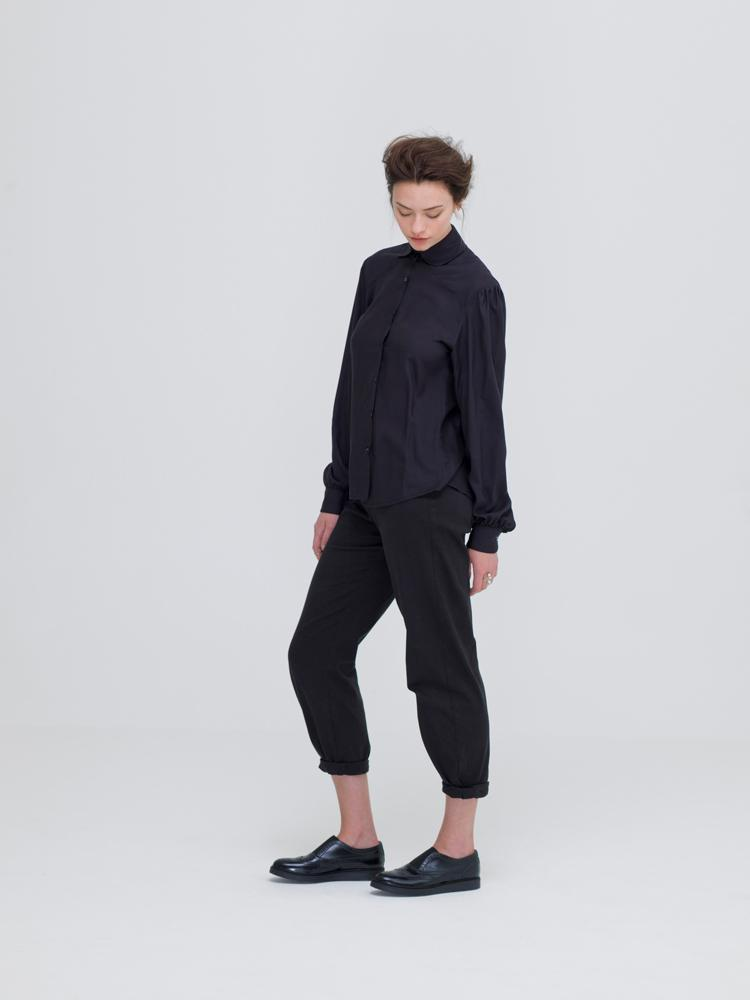 Sustainable Black Oeko Tex Bamboo Shirt-Zola Amour-MAMOQ