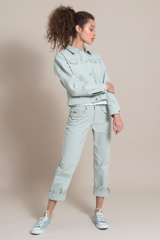 Sustainable Blue Cotton Mom Jeans-blonde gone rogue-MAMOQ