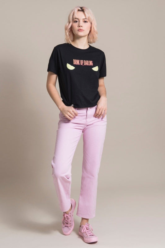 Sustainable Pink Cotton Mom Jeans-blonde gone rogue-MAMOQ