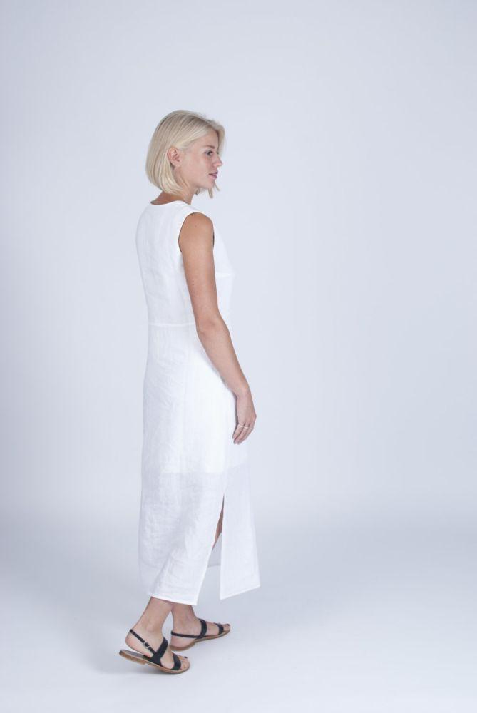 Sustainable White Dress-Veryan-MAMOQ