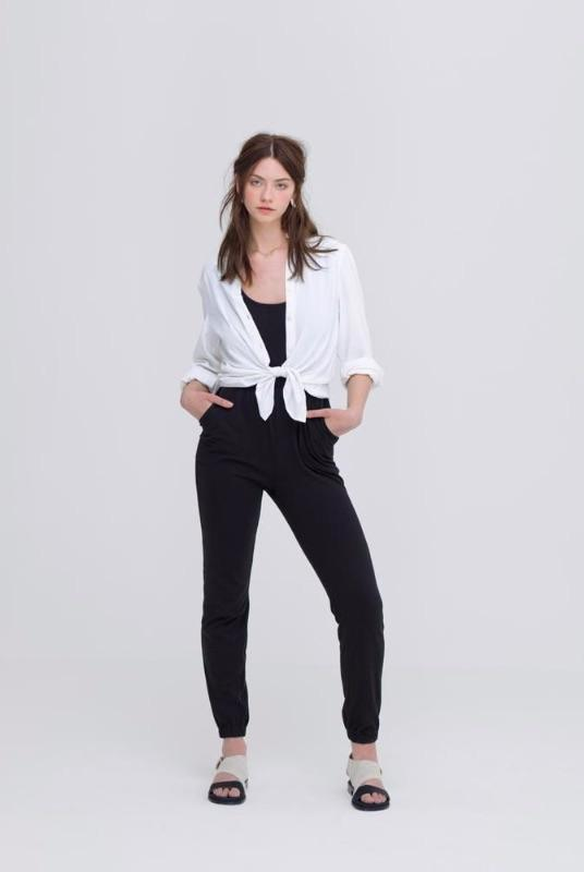 Sustainable White Oeko Tex Bamboo Shirt-Zola Amour-MAMOQ
