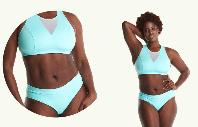 Swimbra Bikini Top Mint Blue - Hendricks-Deakin and Blue-MAMOQ