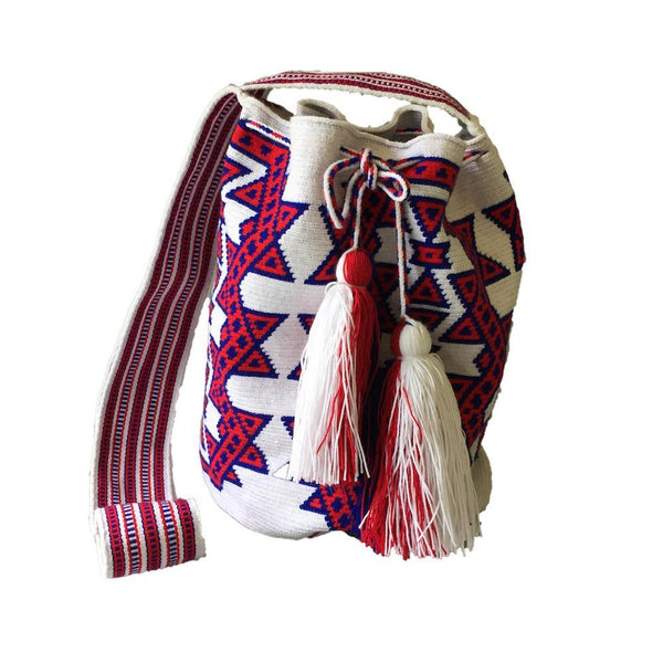 Taguayo Red Cotton Wayyu Mochila Bag-Untold Treasures-MAMOQ