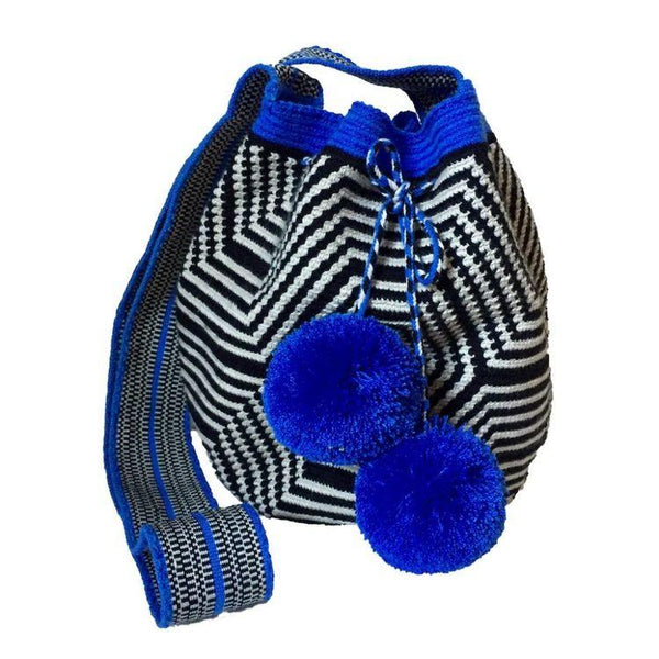 Tapaje Blue Cotton Wayyu Mochila Bag-Untold Treasures-MAMOQ