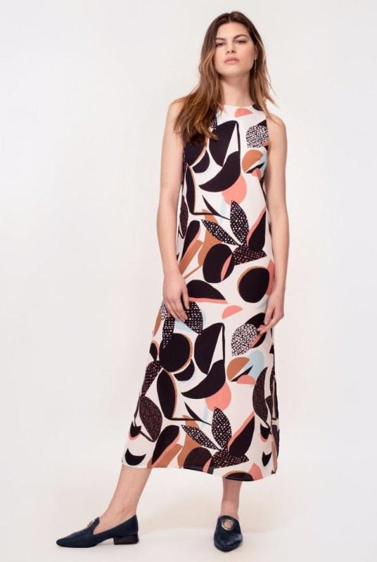 Thalia Abstract Floral Print Maxi Dress-Hide The Label-MAMOQ