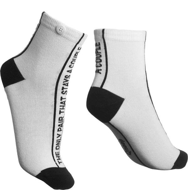 The Only Pair Off White Organic Cotton Socks-Qnoop-MAMOQ