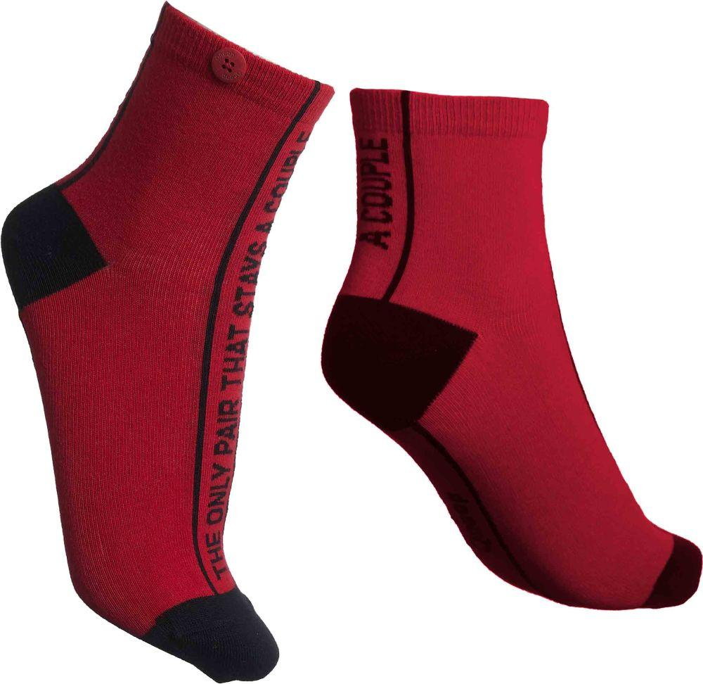 The Only Pair Roses Red Organic Cotton Socks-Qnoop-MAMOQ