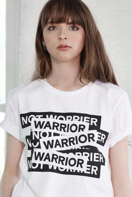 The Warrior not Worrier T-Shirt-Maison de Choup-MAMOQ