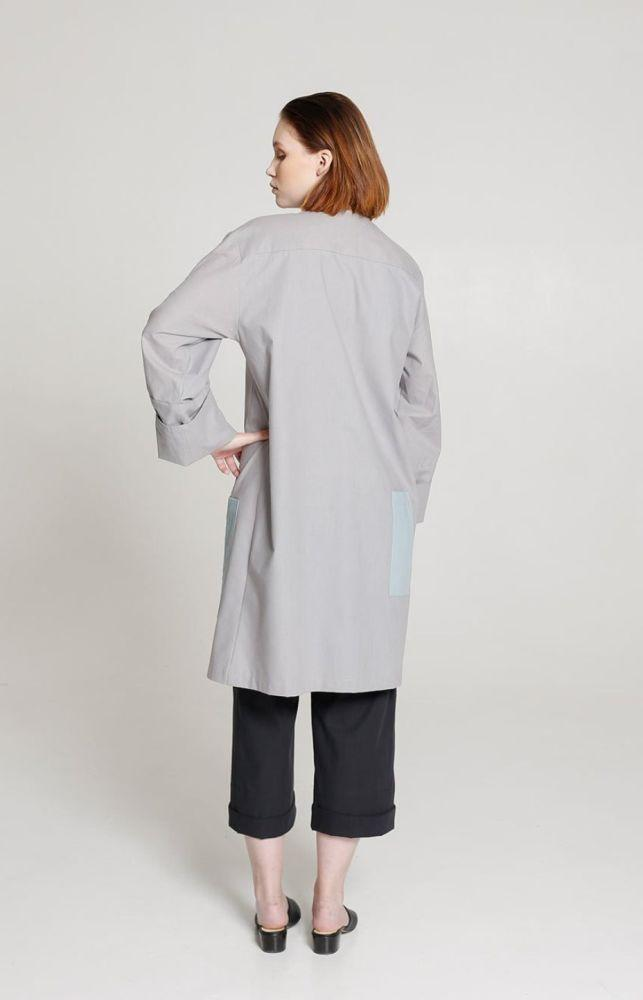 Tic-Toc Light Grey Vegan Coat-TAUKO-MAMOQ