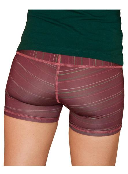 Tierra Burnt Red Recycled PET Striped Shorts-The Salvage-MAMOQ