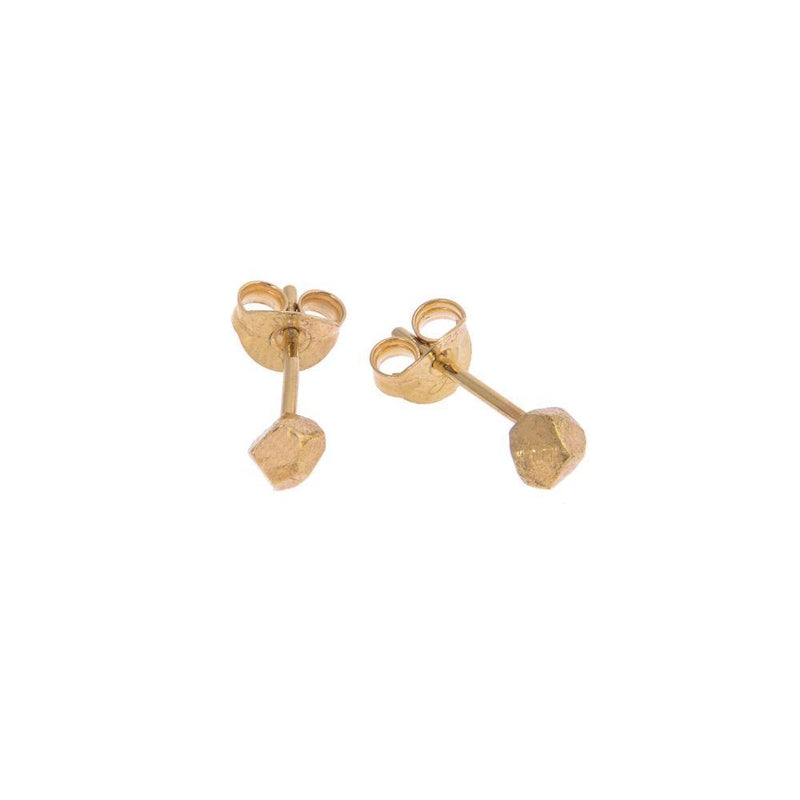 Tiny Mani Gold Plated Stud Earrings-ANUKA Jewellery-MAMOQ