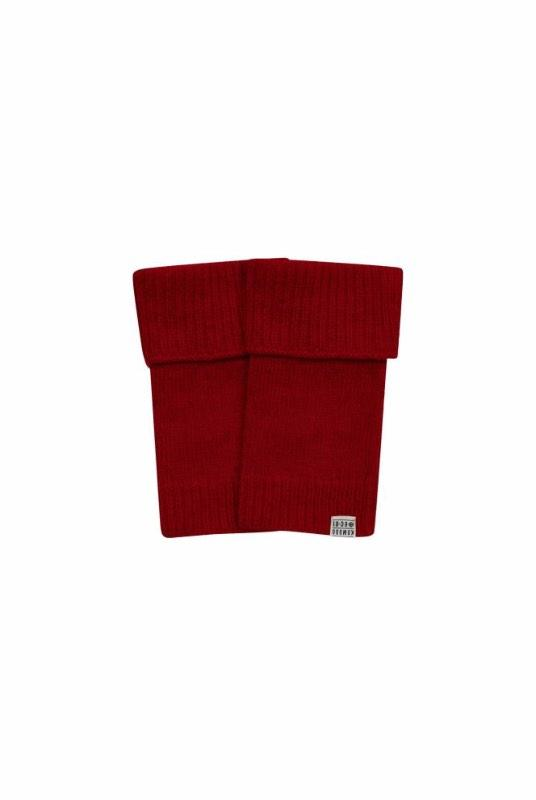 Tor Burnt Red Merino Wool Mittens-Komodo-MAMOQ