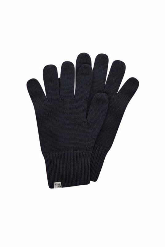Torn Black Merino Wool Gloves-Komodo-MAMOQ