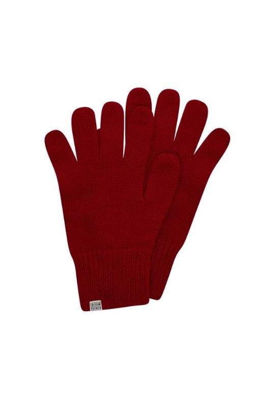 Torn Burnt Red Merino Wool Gloves-Komodo-MAMOQ