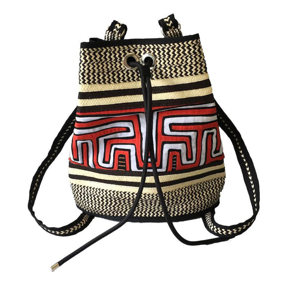 Tulúa Patterned Caña Flecha Handcrafted Backpack-Untold Treasures-MAMOQ