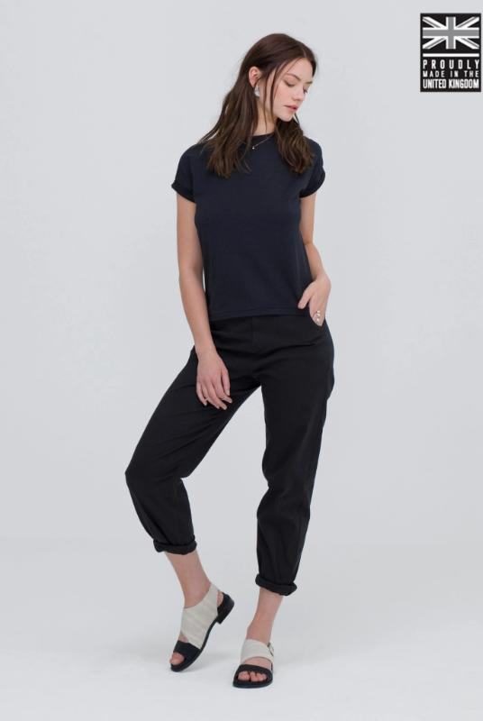 Ultra Soft Black Bamboo Cotton T-Shirt-T-shirt-Zola Amour-MAMOQ