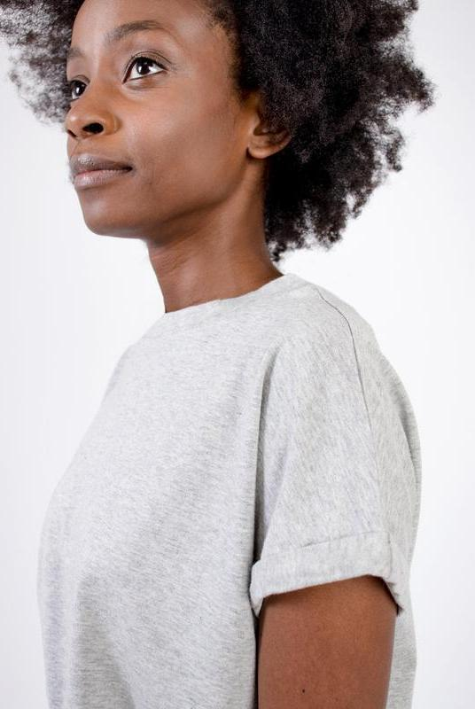 Ultra Soft Light Grey Bamboo Cotton T-Shirt-T-shirt-Zola Amour-MAMOQ