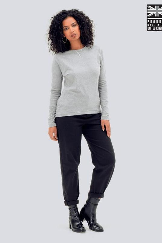 Ultra Soft Light Grey Long Sleeve T-Shirt-Zola Amour-MAMOQ