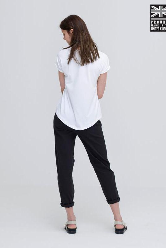 Ultra Soft White Bamboo Cotton T-Shirt-T-shirt-Zola Amour-MAMOQ