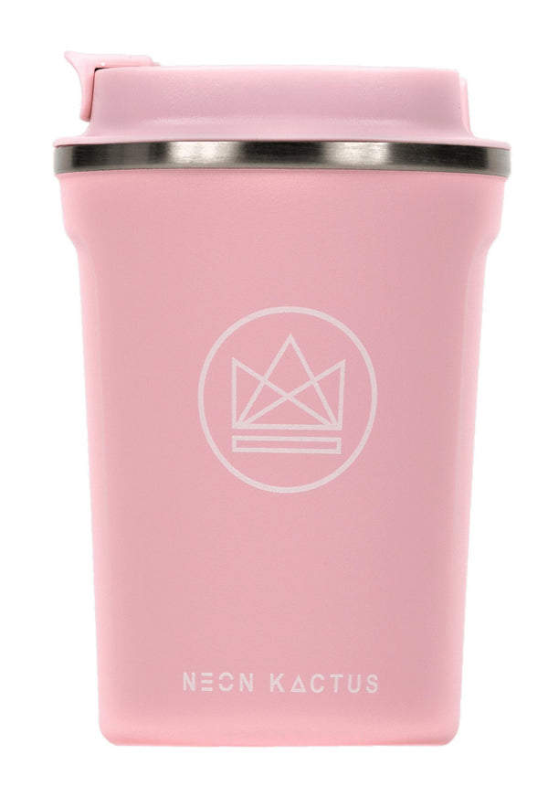 Under The Sea Pink Insulated Coffee Cups-Insulated Coffee Cups-Neon Kactus-MAMOQ