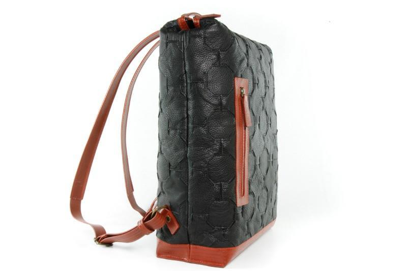 Up-cycled Leather Large Backpack-Elvis & Kresse-MAMOQ