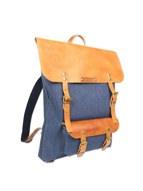 Viajero Blue Backpack-MOXHI-MAMOQ