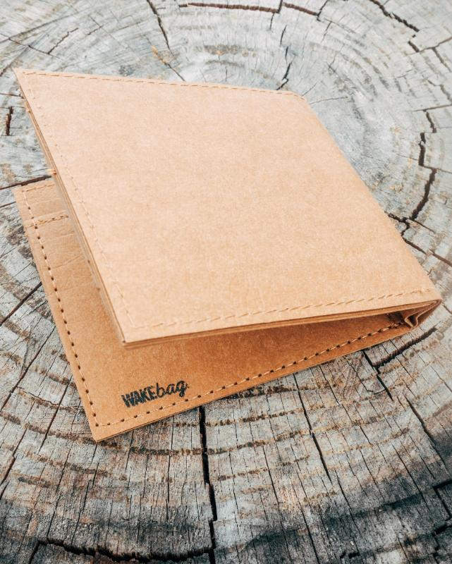 WAKEcup Brown Paper Bag Finish Wallet-WAKEcup-MAMOQ