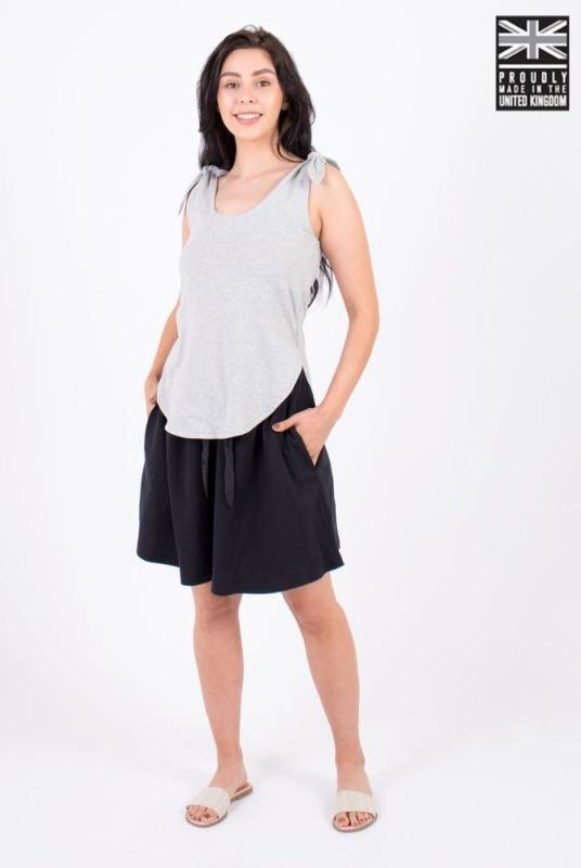 Wear Me in Six Ways Light Grey Organic Cotton Tie Top-Zola Amour-MAMOQ