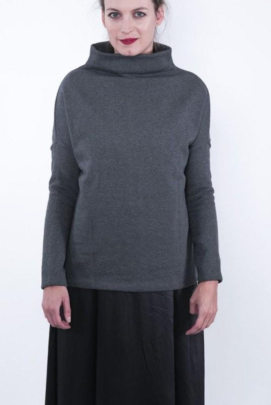 Wear Me Organic Cotton High Neck Sweatshirt-ADVA-MAMOQ