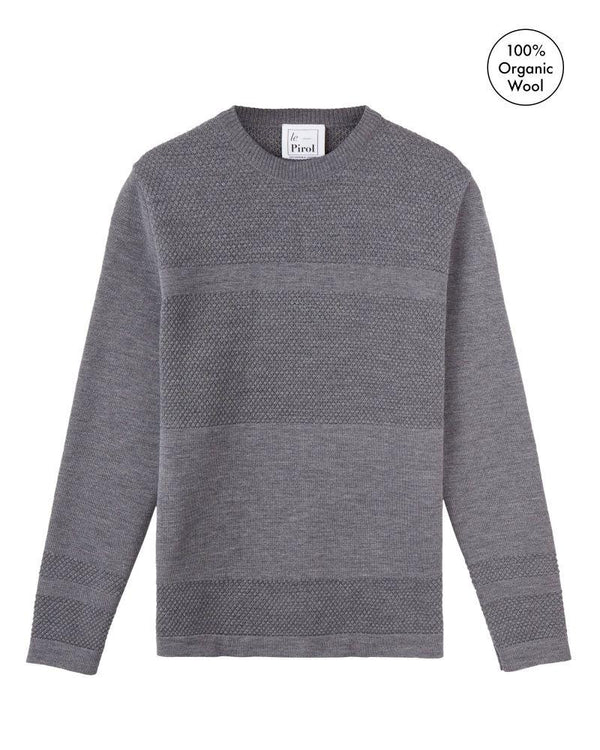 Wex Sailor Grey Merino Wool Sweater-Le Pirol-MAMOQ