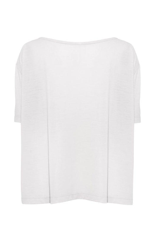 White A-Line Short Sleeve T-Shirt-Asmuss-MAMOQ
