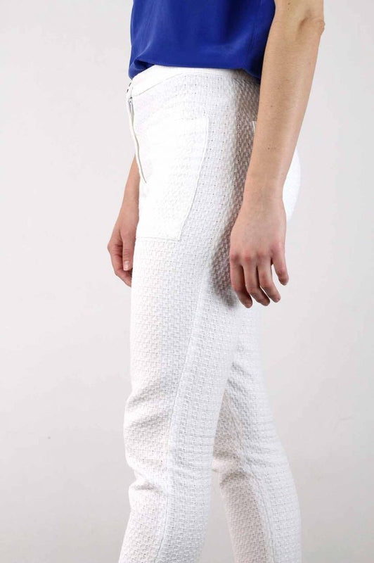 White Cropped Lucie Trousers-ATODE-MAMOQ