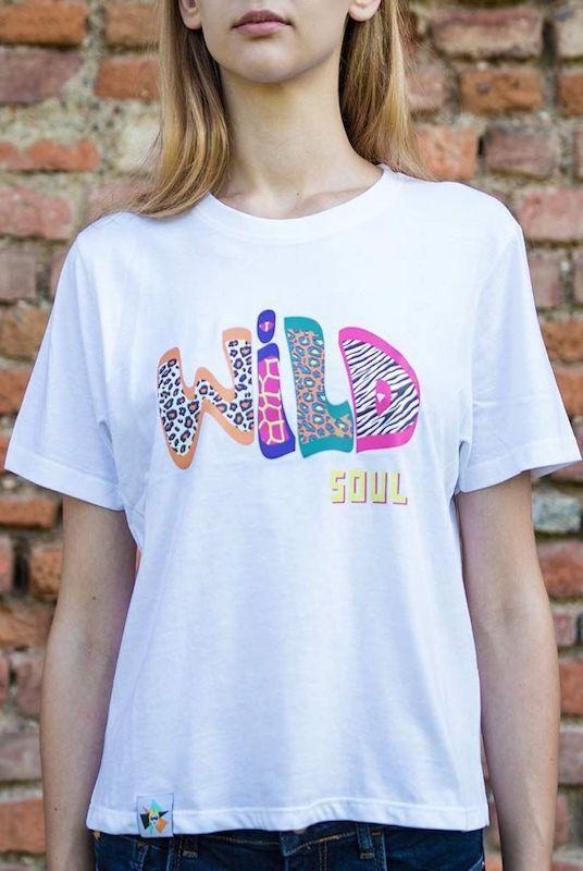 Wild Soul White Recycled Cotton T-Shirt-blonde gone rogue-MAMOQ