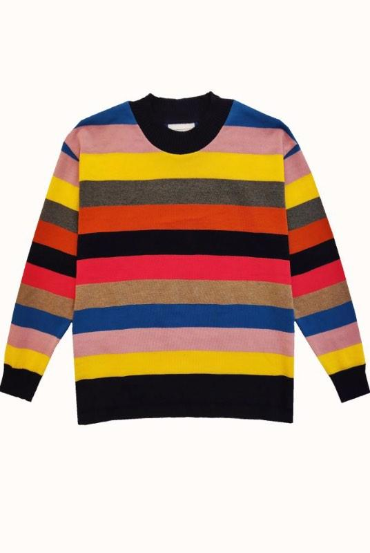 Wildnis Striped Organic Cotton Jumper-Le Pirol-MAMOQ
