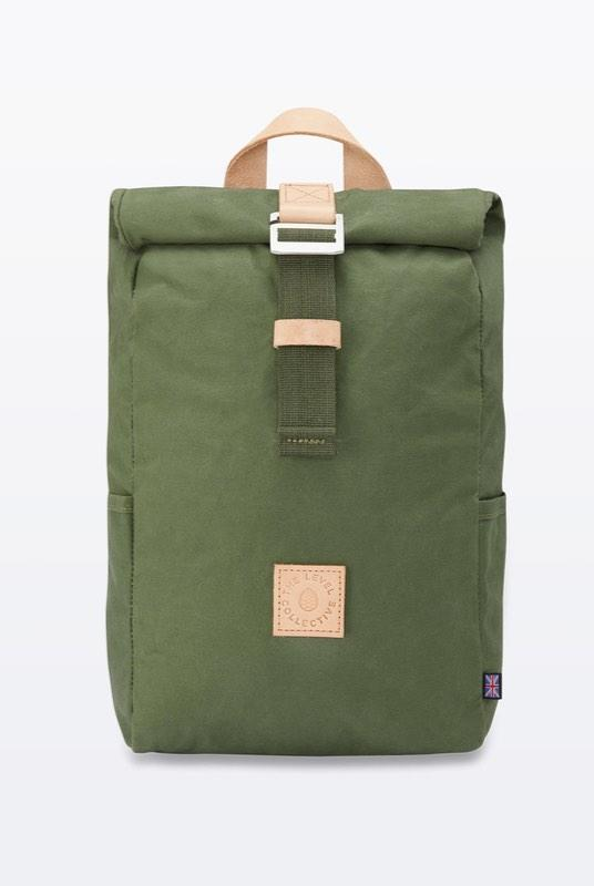Winnats Forest Waxed Organic Cotton Roll Top Backpack-The Level Collective-MAMOQ