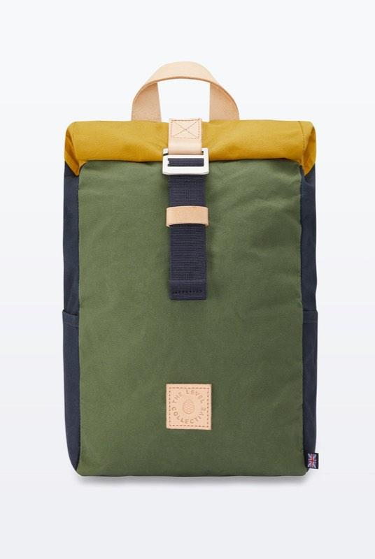 Winnats Wild One Waxed Organic Cotton Roll Top Backpack-The Level Collective-MAMOQ