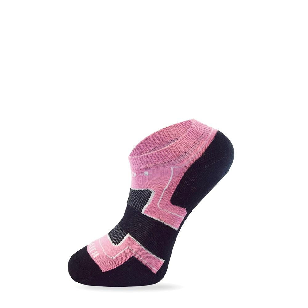 Women's Pink & Black Health Sock-Stand4 Socks-MAMOQ
