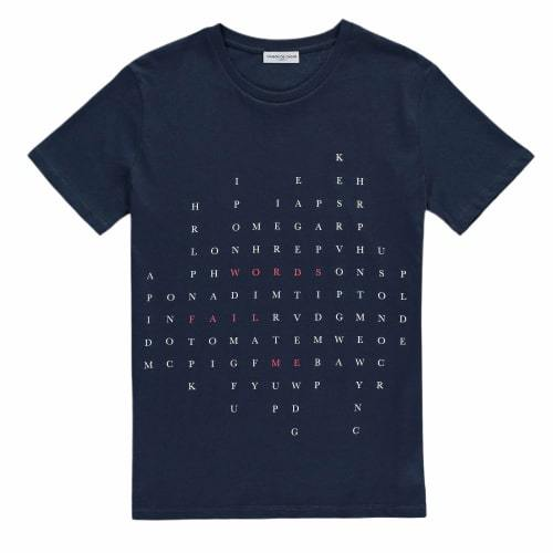 Words Fail Me T-Shirt - Navy Blue-Maison de Choup-MAMOQ