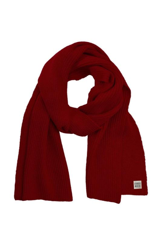 YIN Burnt Red Merino Wool Scarf-Accessories-Komodo-MAMOQ